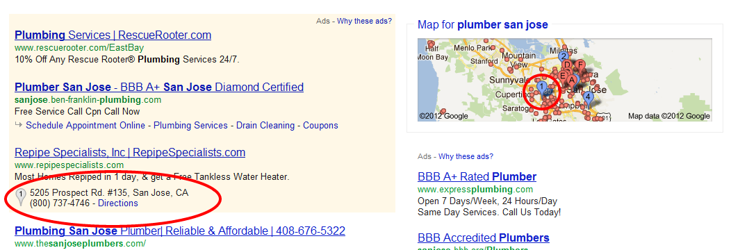 adwords location extension